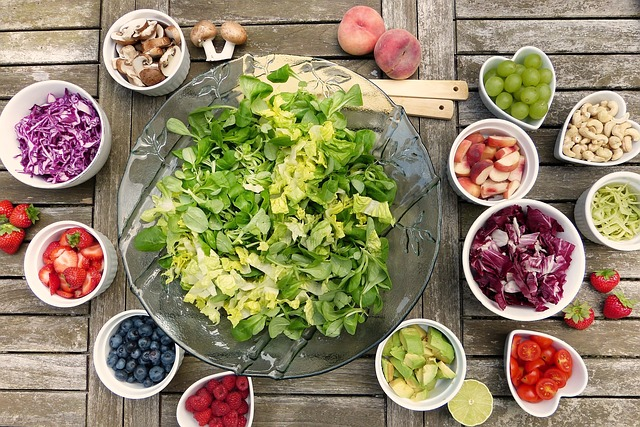 suroviny na salát