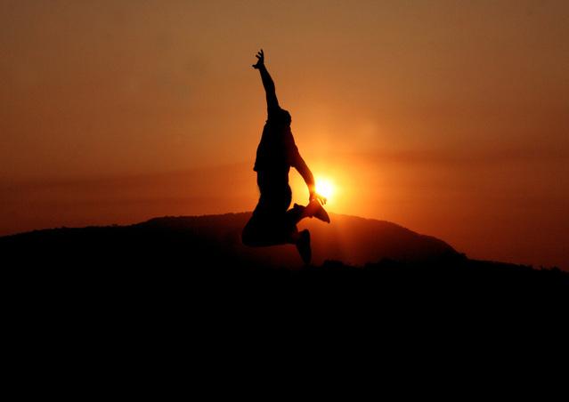 výskok při západu slunce