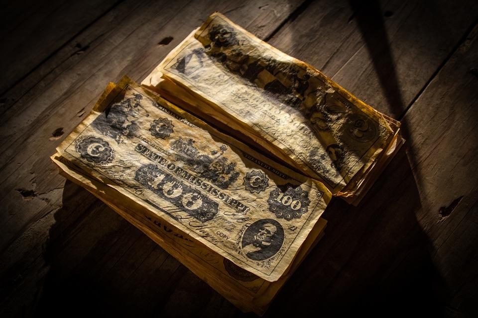 pomačkané peníze